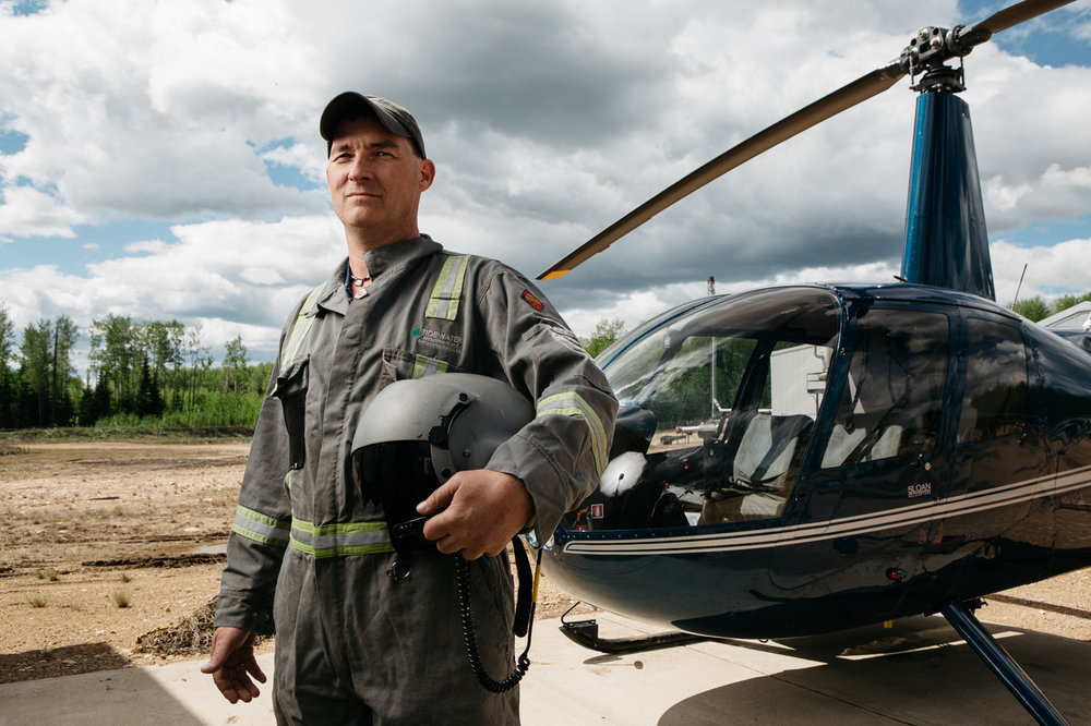 FRIAA Helicopter Pilot Portrait