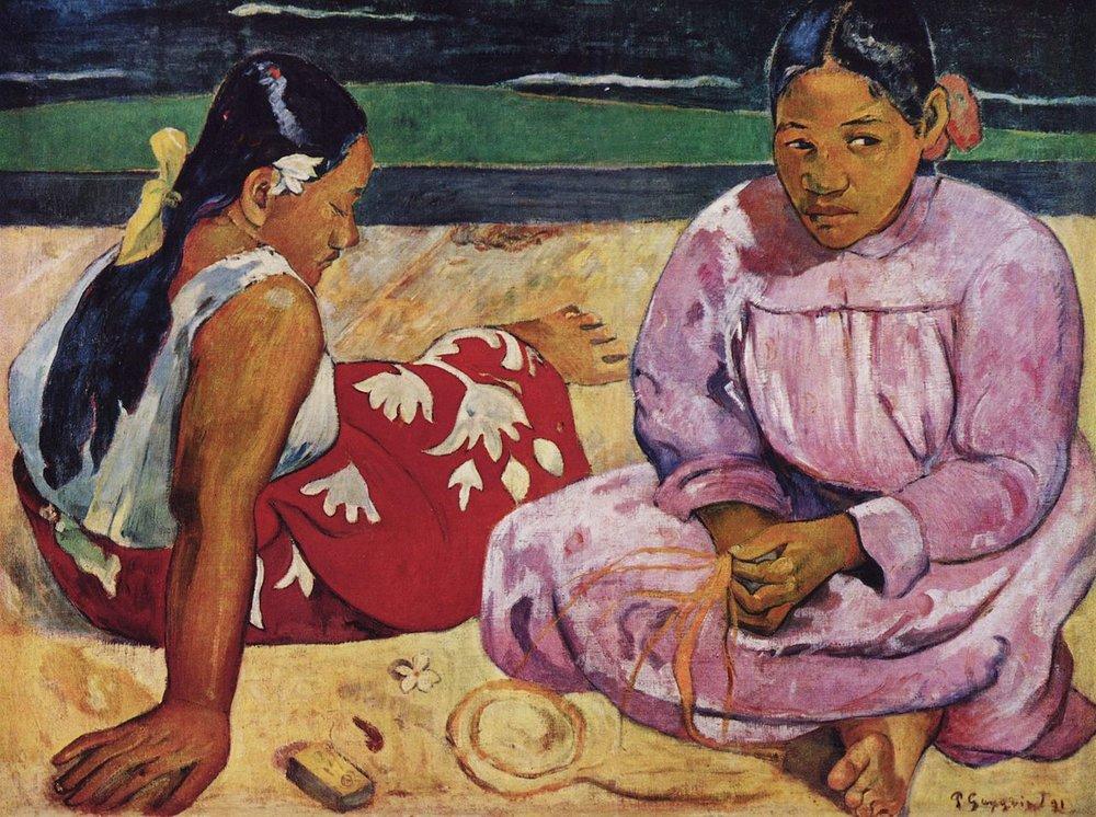 Tahitian Women on the Beach   Paul Gaugin (1891)