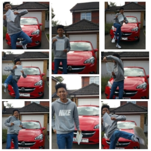 AND Our 2014/15 winner, brandon - Some photos of the lucky winner of the Corsa from 2015. Brandon went on to pass his test in the car!