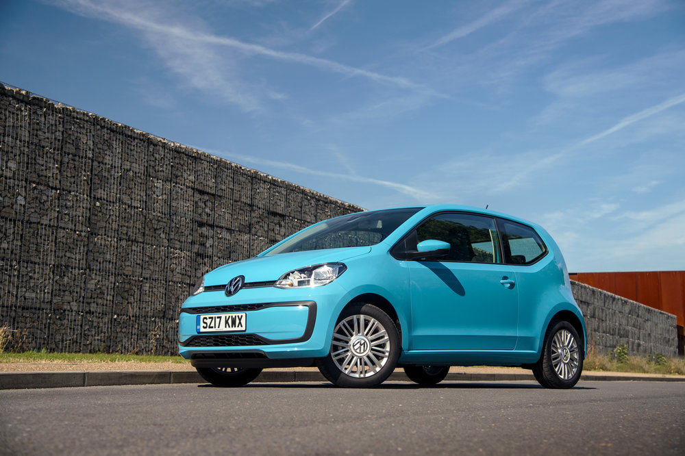 Volkswagen Up!   We're impressed that autonomous emergency braking can be specified on every Volkswagen Up!. The VW is fun to drive, cheap to fuel, and inexpensive to insure.
