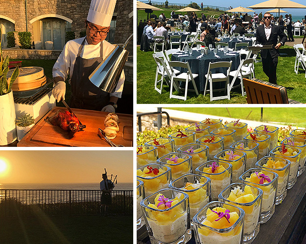 From the seaside carving station on the lawn at sunset to the mini cups of coconut rice pudding with mango and pineapple confetti, this event held at the Ritz-Carlton Half Moon Bay was a feast for the eyes—and stomachs—that we won't soon forget!