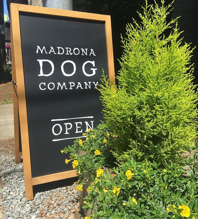 It's an exquisite day in Madrona. Stop in today or tomorrow for our Pop-up Finale Sale. Everything in stock is 50% off. A great time to load up on treats and pet waste bags, buy early for the rainy season, or treat your dog to something extra special. Hope to see you!