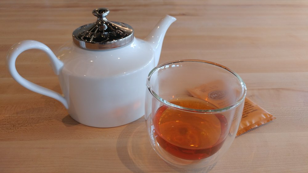 A freshly made pot of Smith Teamakers Red Nectar Rooibos tea.