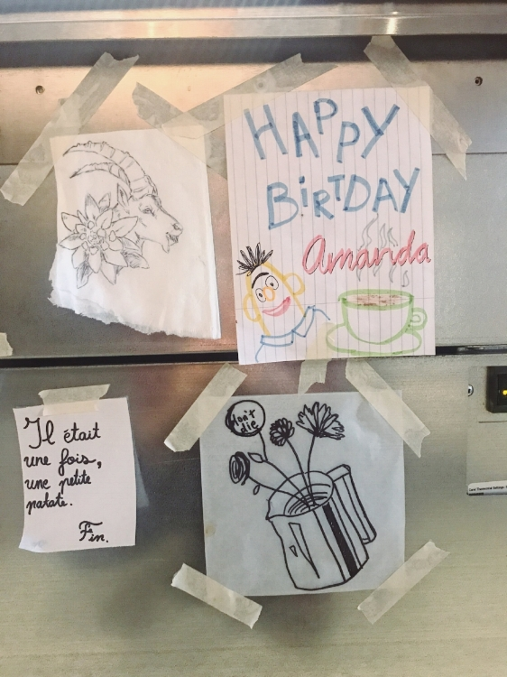 - …to the doodles by our baristas that are posted behind the counter, there is always something lovely for our customers to see.