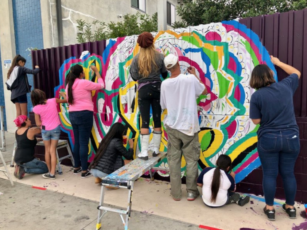 December 9, 2018  Our second annual  Open House  welcomed everyone to explore all 10 artists' studios, participate in our first ever mural provided by  Arts Bridging the Gap , and the monthly  Barnsdall Arts  Workshop. Photo provided by  Miles Aiello