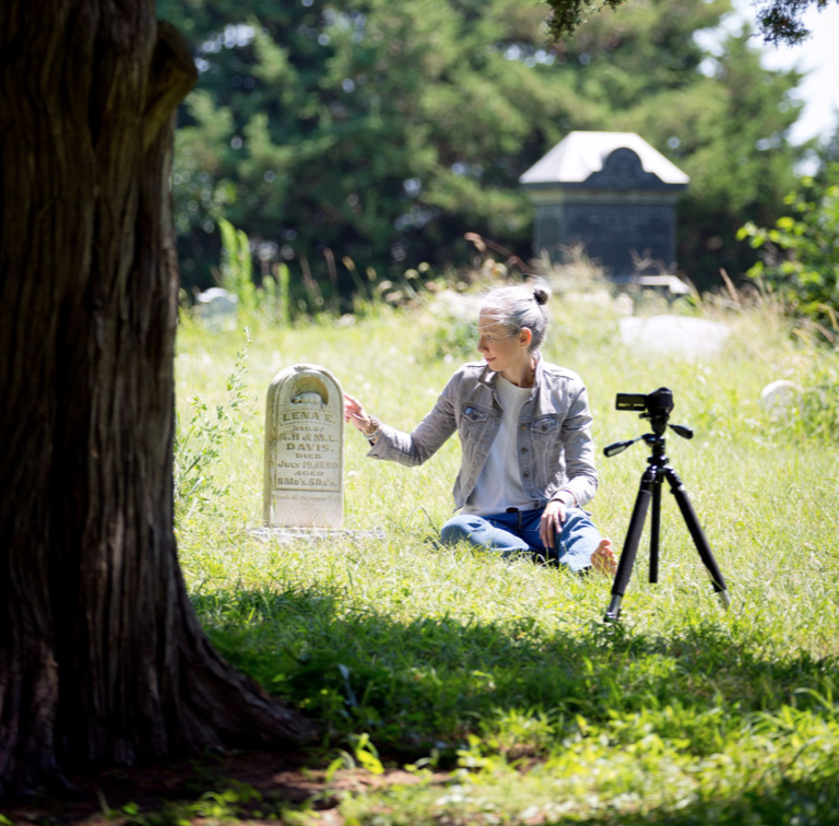 June 29, 2017   LAND Talks: Frame Rate: 3 Artists, 3 Evenings     ALEXANDRA GRANT   discussed  Taking Lena Home , a documentary about a curious object Grant found in a Wyoming junk shop: the tombstone of Lena Davis, a baby girl who died in 1880. LAND proudly hosted this West Coast premiere.