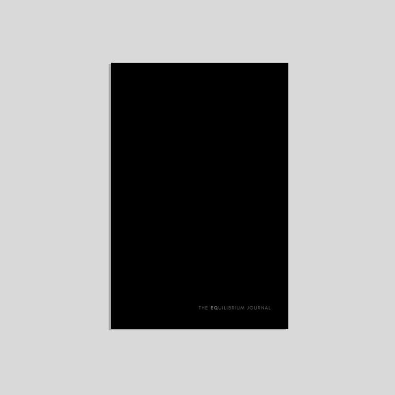 The Equilibrium Journal, Black | $28