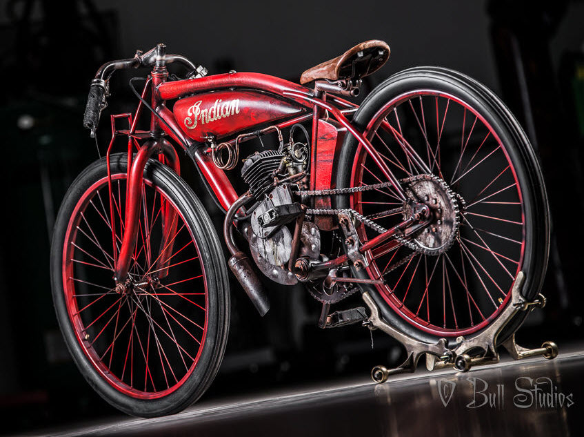 Indian Board Track Racer Tribute Bike in Red