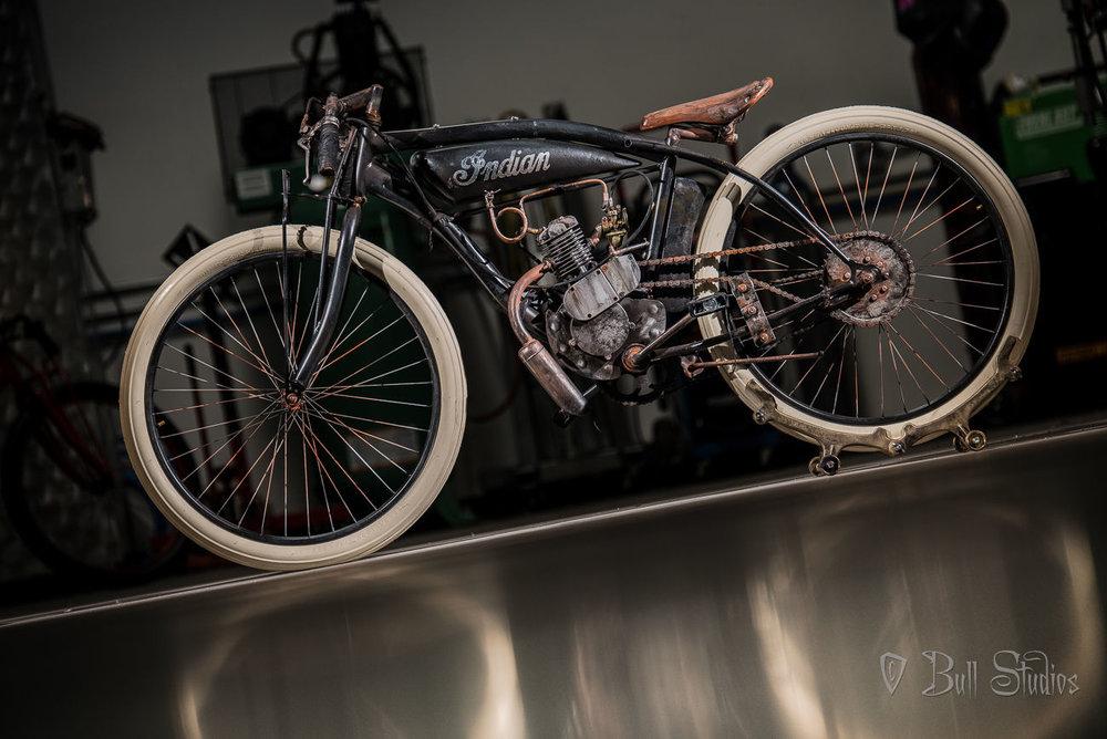 Indian Board Track Racer Tribute Bike in Black