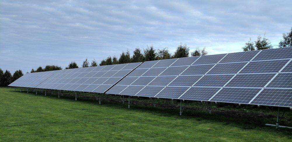 Jim Masching Solar Array, Blooming Prairie, Minnesota. Built by American Energy of Blooming Prairie, Minnesota.