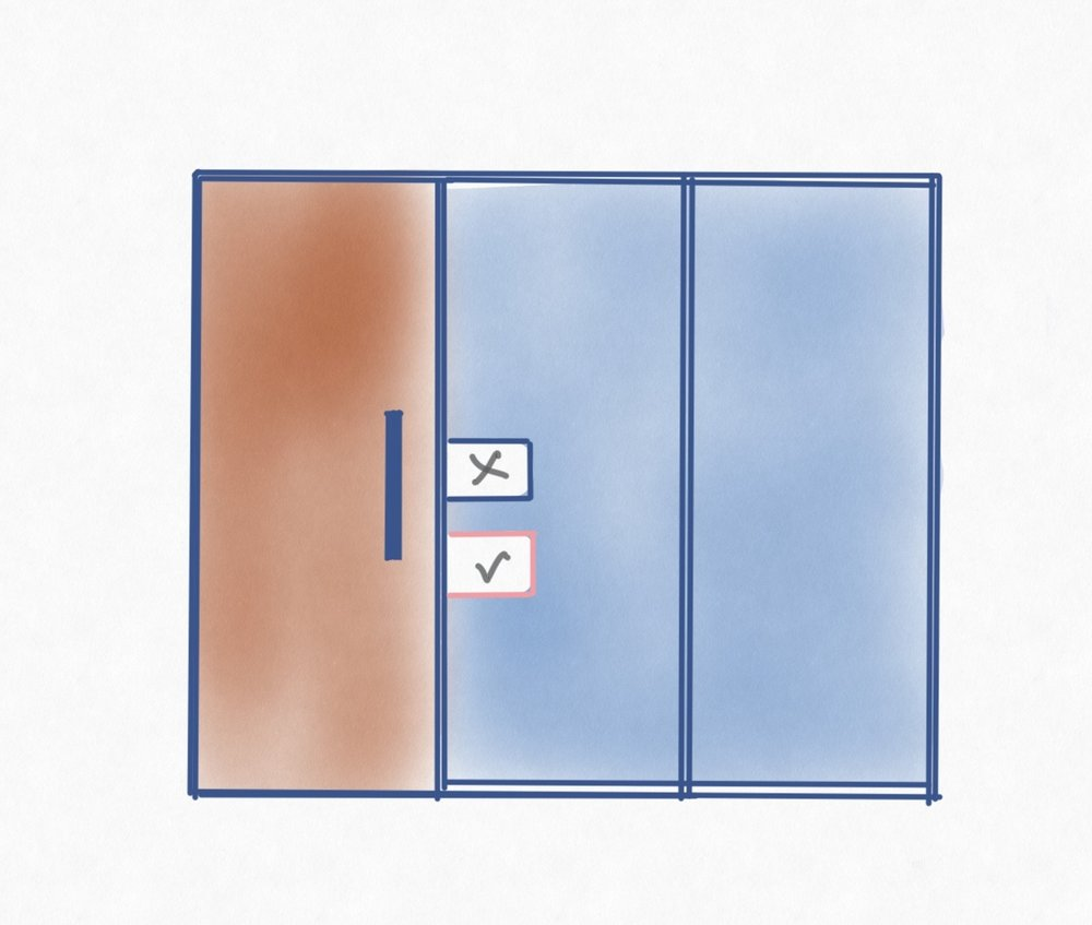 Move the scheduler down to a lower position for wheelchair accessibility.