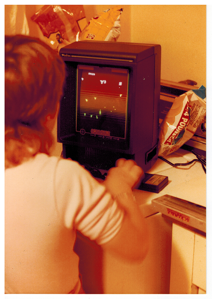 Me and my Vectrex c. 198?. BFF's.