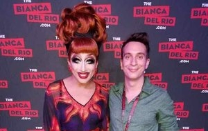 Tony (right) with the amazing  Bianca Del Rio  (left)