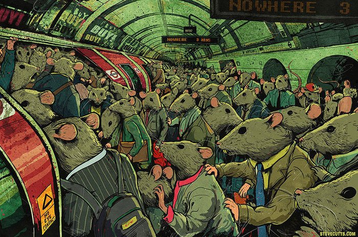 Created by artist Steve Cutts. See more of his work here.
