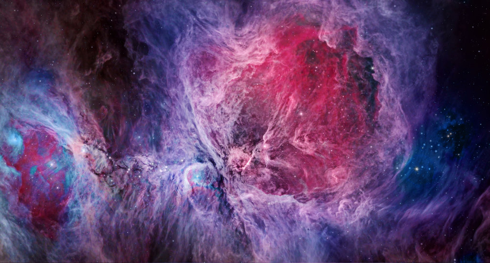 The Orion Nebula is the nearest location of star formation to Earth at approxmiately 1,300 light-years away.