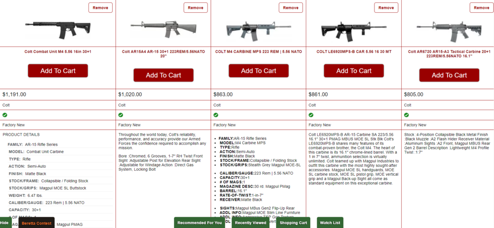 Compare AR 15 style rifles on Bud's Gun Shop before making a purchase decision.