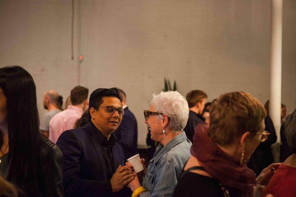 Kamal Sarma with OzHarvest founder, Ronni Kahn