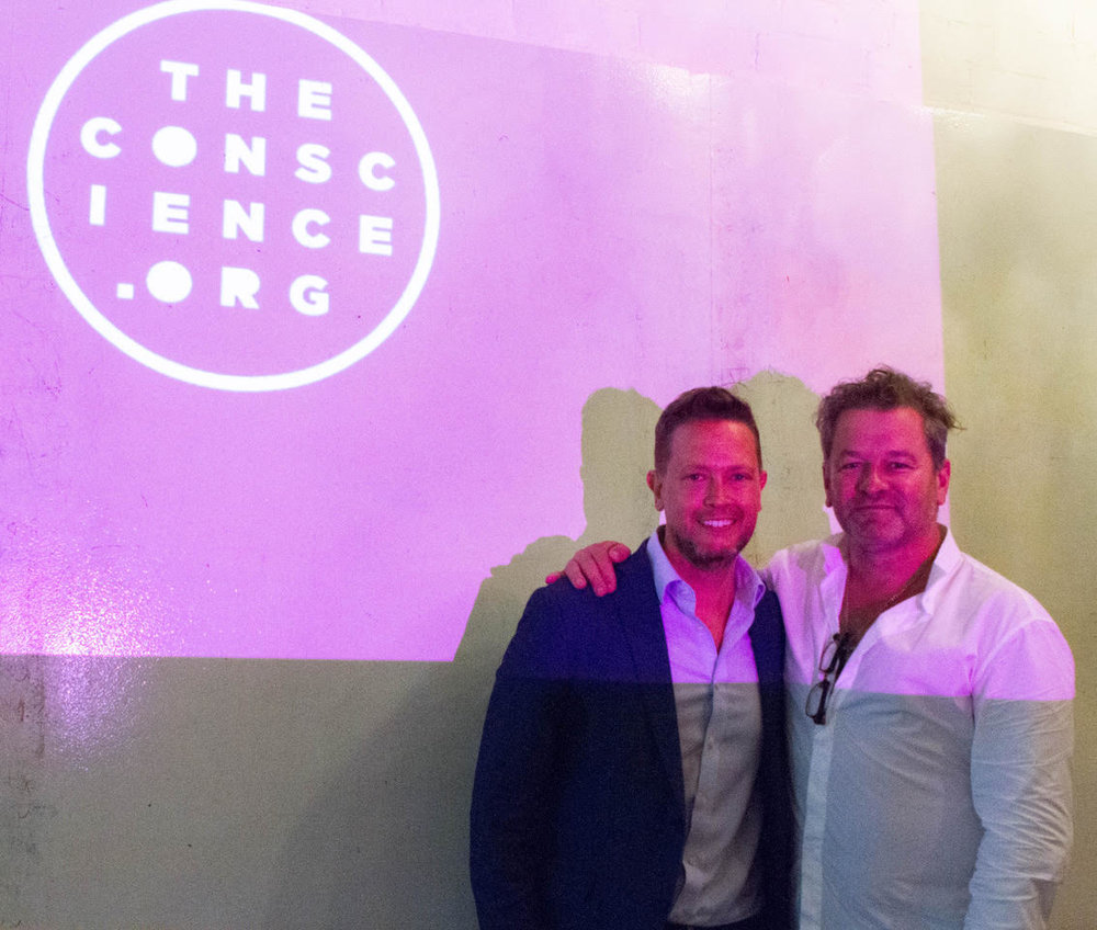 David Ohana pictured with The Conscience Organisation CEO Clive Burcham.