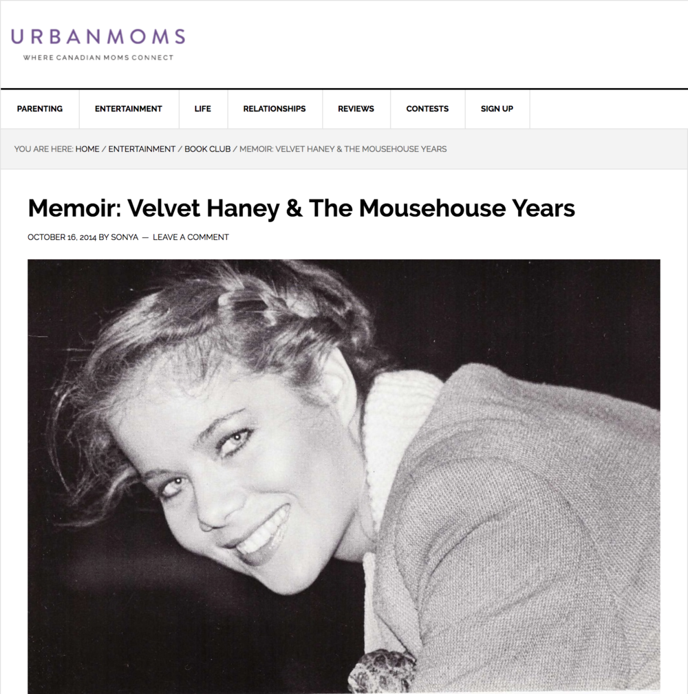 Velvet Haney and The Mousehouse Years featured in Urban Moms