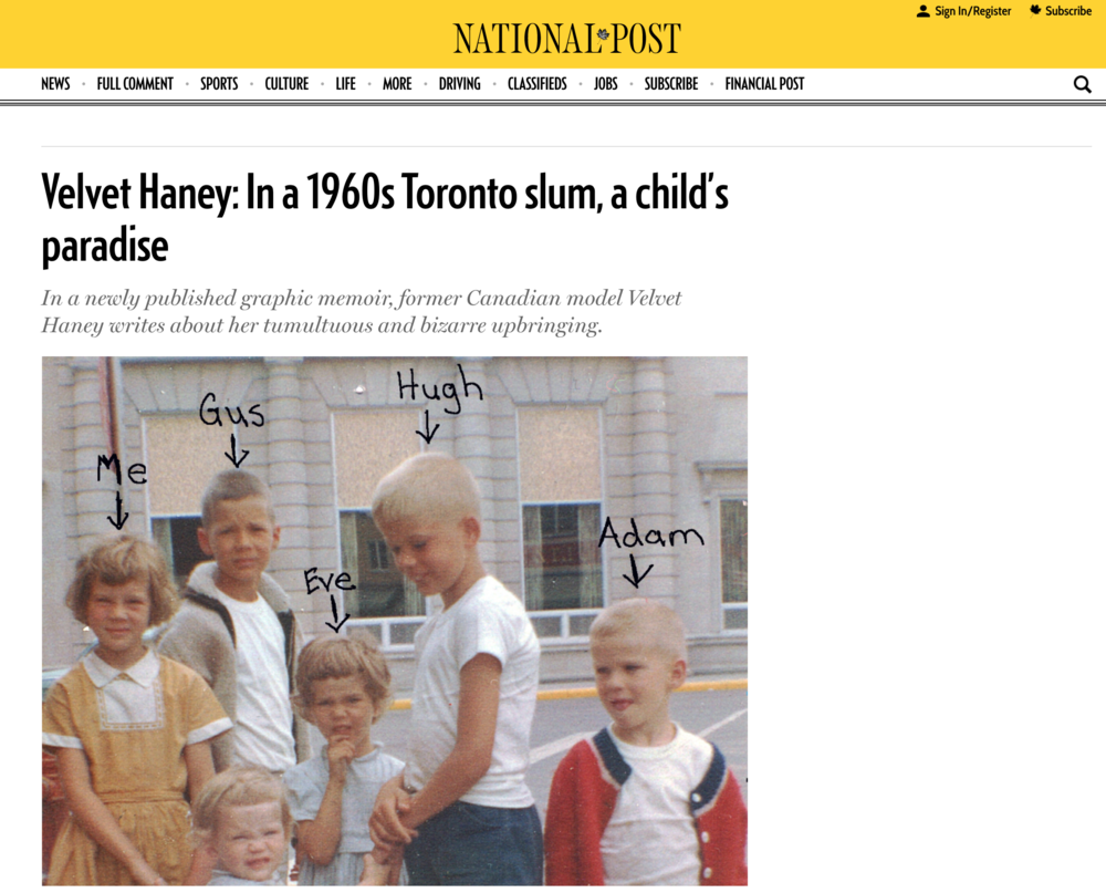 Velvet Haney and The Mousehouse Years featured in The National Post