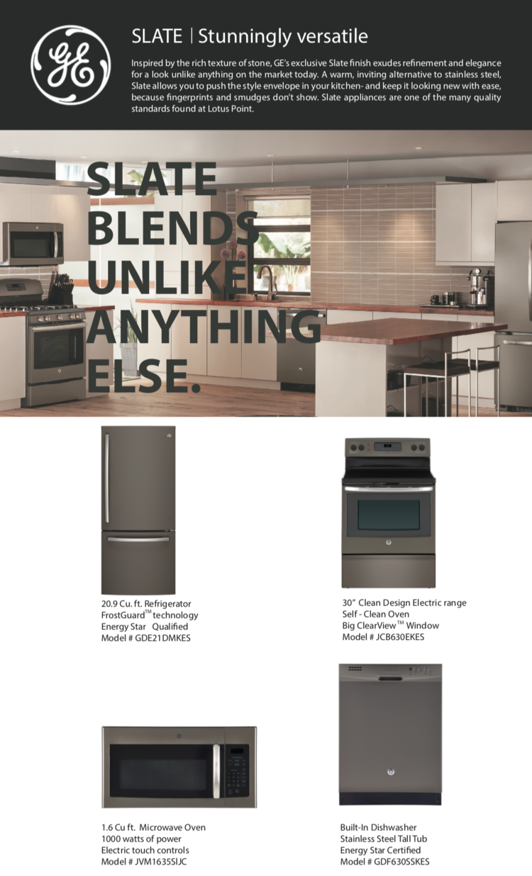 Designer Slate Appliances — Lotus Point Living