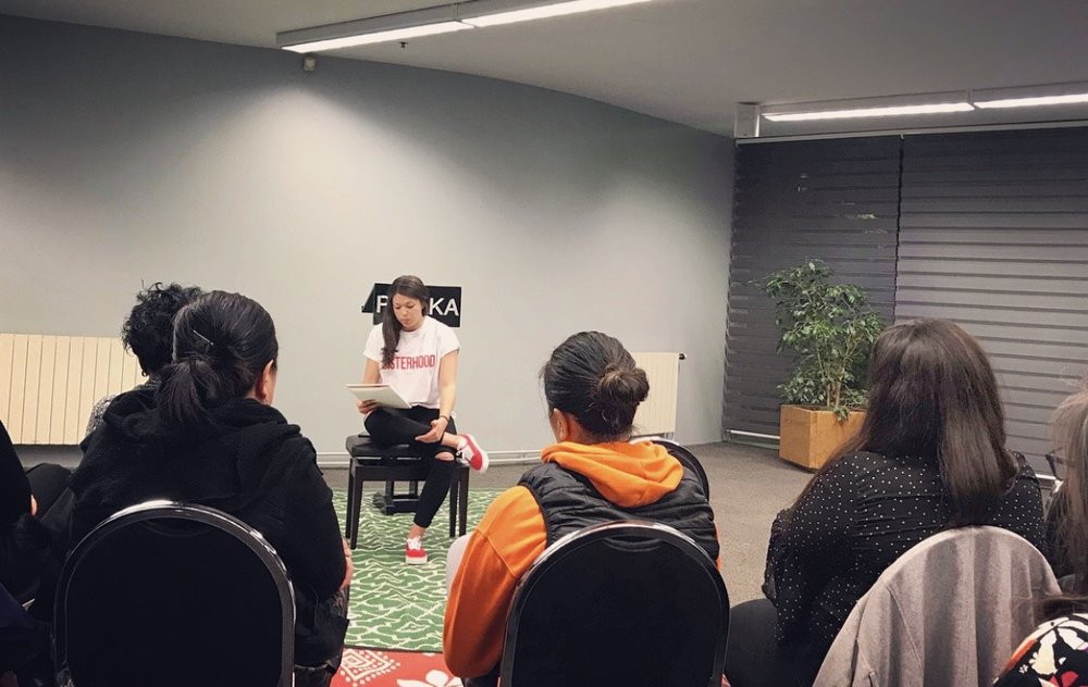 Image of Simone Workman at Coffee with Brownies: Bilingual Open Mic Poetry