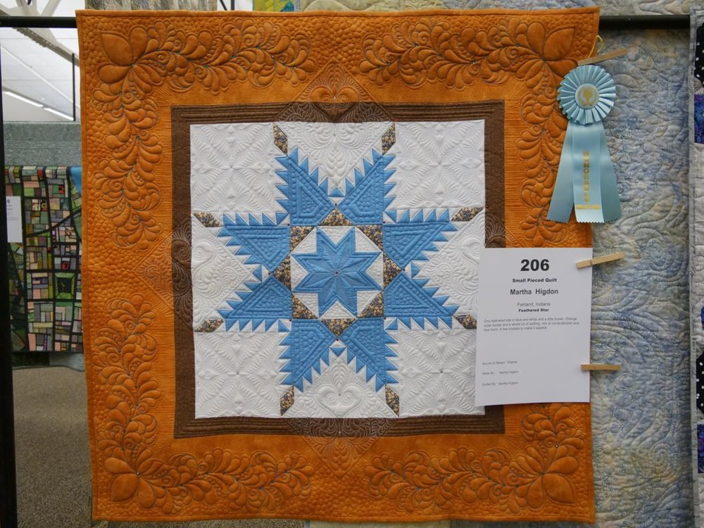 Feathered Star - Honorable Mention, Small Pieced Quilts