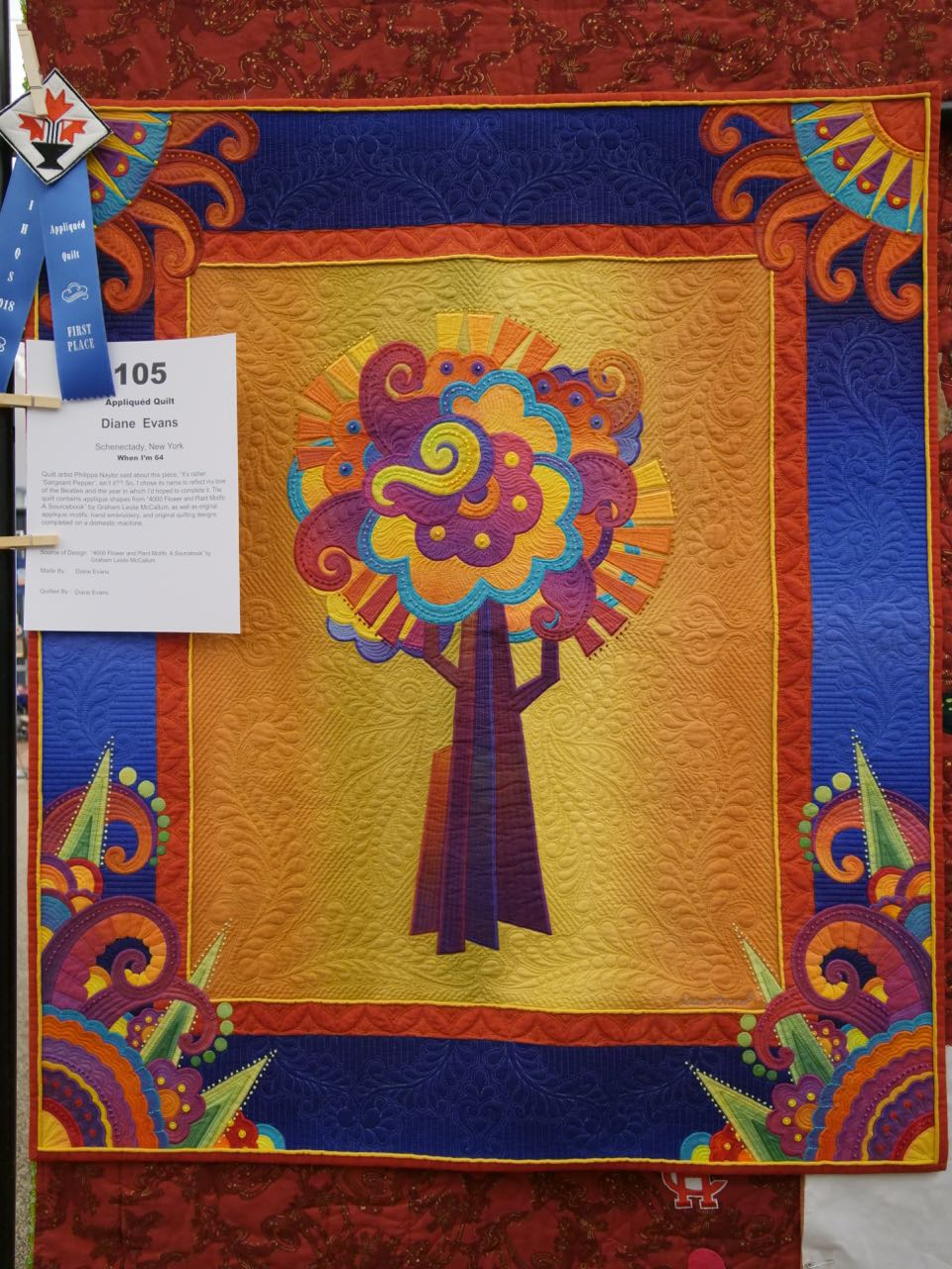 When I'm 64 - 1st Place, Appliquéd Quilts