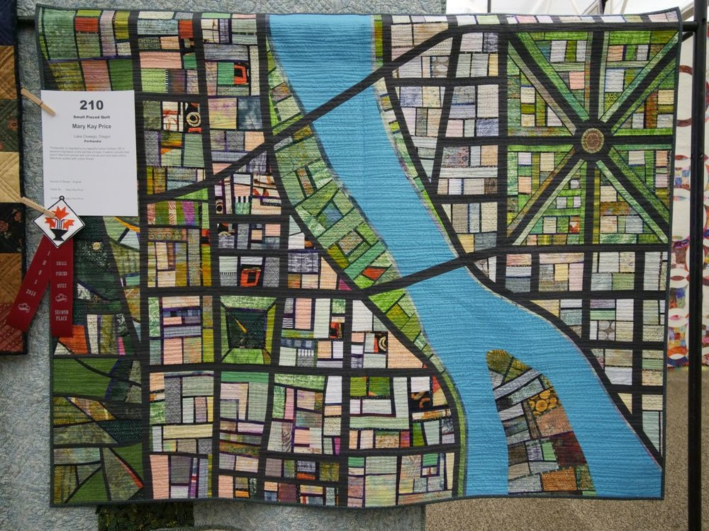 Portlandia - 2nd Place, Small Pieced Quilts