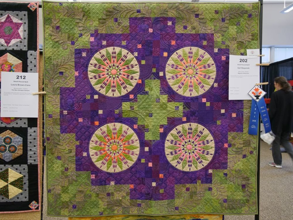 Magnetic Attraction - 1st Place, Small Pieced Quilts
