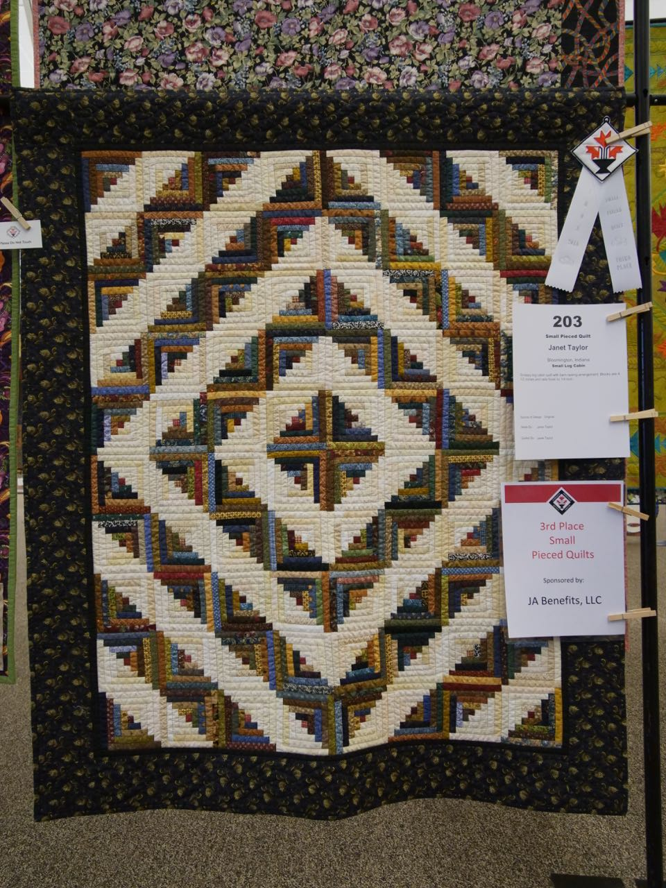 Small Log Cabin - 3rd Place, Small Pieced Quilts