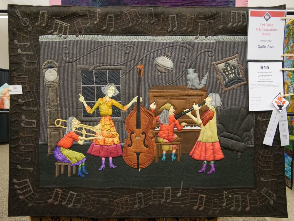 Bringing Down the House - 3rd Place, Art/Innovation Quilts