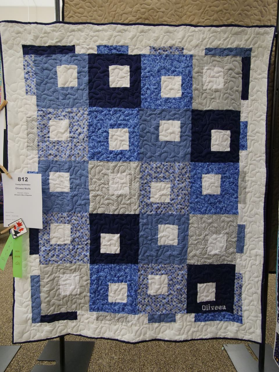 Oliveea's Sky of Squares - Young Quiltmaker