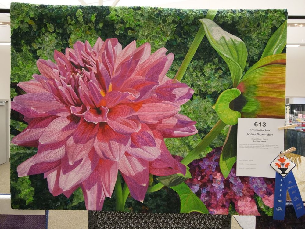 Dazzling Dahlia - 1st Place, Art/Innovation Quilts