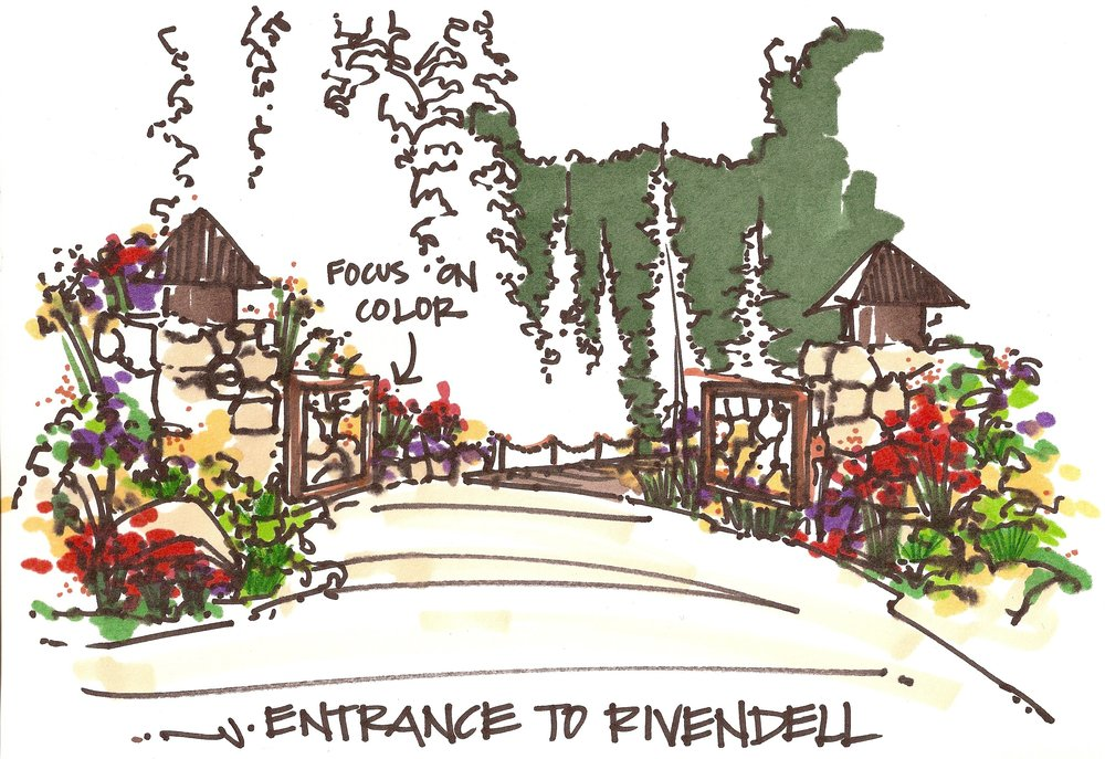ENTRANCE SKETCH TO RIVENDELL