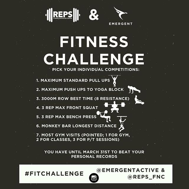 Mention a @friend to challenge them in one of these competitions! That's right put them on blast, cause that's what real friends do... What kind of challenges do @emergentactive and @reps_fnc have in store for you? We curated the best competitions for any level of fitness experience. Workouts that will help you break personal records, comfortably try new movements and challenge your gym buddy to a flex match.