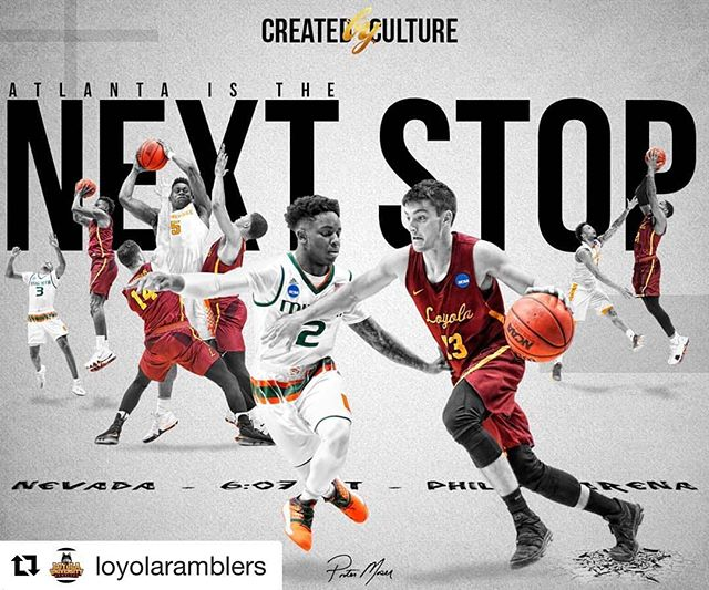 So excited that the @loyolaramblers from Chicago, my alma mater, are in the sweet sixteen. It's amazing seeing LUC's athletics progress throughout the years. Goes to show you to never give-up. Even the unexpected is possible.  #Repost @loyolaramblers ・・・ Dallas was fun. It was amazing being back in Chicago!  But it's time for Atlanta!  #OnwardLU #MVCHoops #LUCMBB100 #MarchMadness #NoFinishLine
