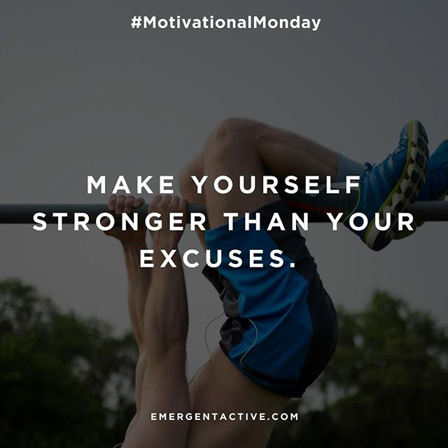 #MotivationalMonday Today's fitness tip: Ignore the excuses. 💪A one hour workout is only 4% of your day 😱