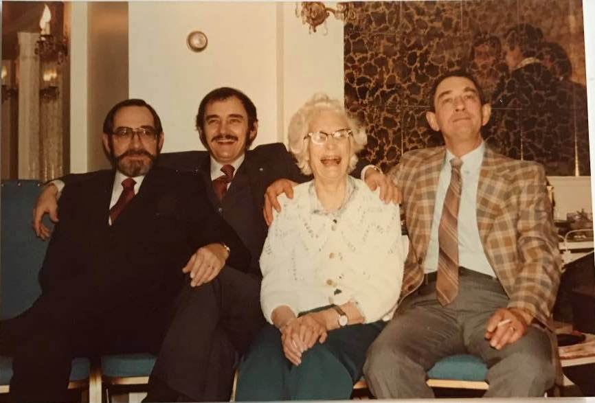 Don, Al, Eva, Rich, 1970s