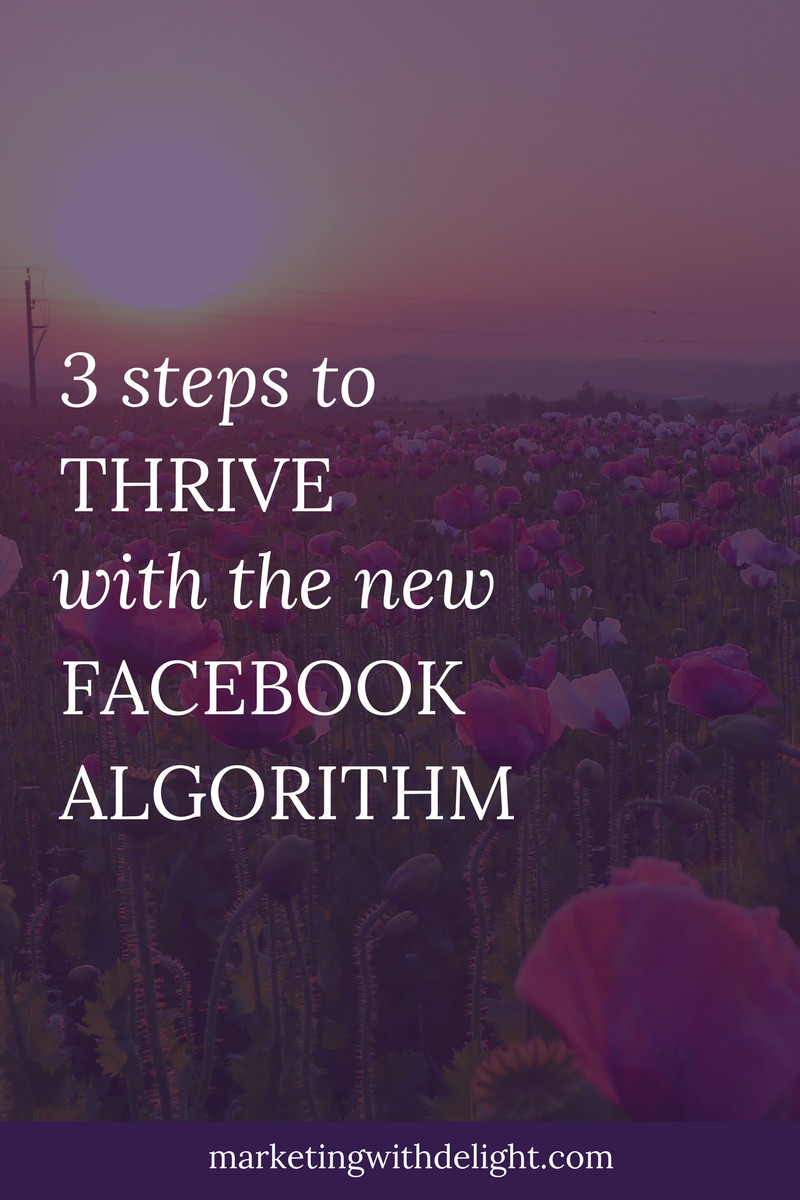 Don't panic! The Facebook algorithm changes are not the end of the world! Learn how to adjust and thrive on Facebook.Facebook ads tips | Awesome Facebook ads | Facebook ads 2018 | Facebook marketing | Facebook for business | #facebookmarketing | #facebookmarketingtips | #facebookadstips