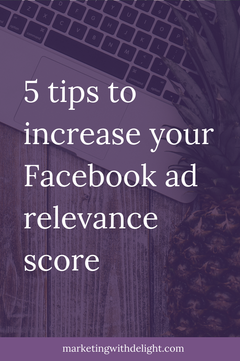 Better relevance scores for your Facebook ads mean reaching more people with less money! Check out these 5 tips to increase your scores. Facebook ads tips | Facebook ads strategy | Awesome Facebook ads | Facebook ads | Facebook marketing | Facebook for business | #facebookmarketing | #contentmarketing | #facebookmarketingtips | #facebookadstips