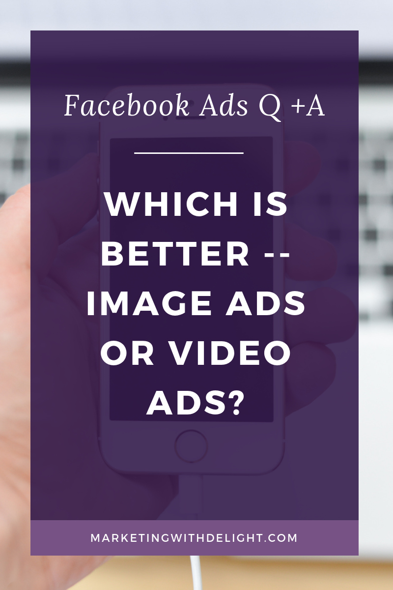 Which type of Facebook ad is better — an image ad or a video ad? The short answer is that it totally depends! You always need to test for yourself. However, I do love a good Facebook video ad. On this vlog, I talk about the benefits of trying a video ad and the cool things you can do with targeting through video views audiences. Click through to watch now!