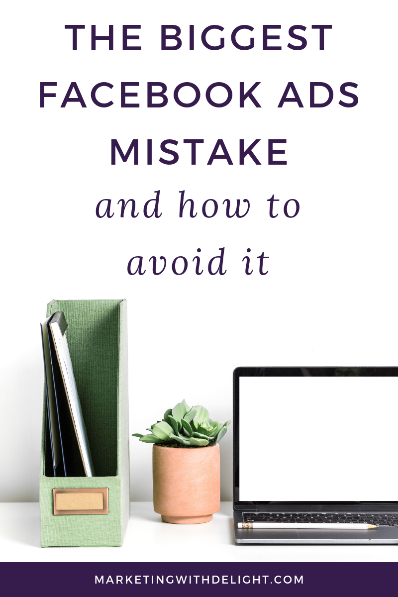 I've been running Facebook ads for myself and clients for over 3 years now. And here's a classic mistake that I see over and over again. This mistake can cost you a lot of money. It has to do with your Facebook ads targeting. Click through to my blog to learn how to avoid this Facebook ads mistake and set up Facebook ads that work! #onlinemarketing #facebookads #facebooktips #fempreneur #ladyboss