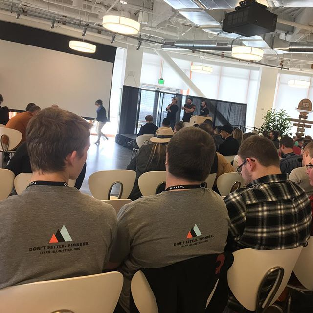 Almost time for the keynote speaker! Our students have had a blast at day 1 of @hackfortfest! Thank you for having us! #idahoptech #jobready #dontsettlepioneer