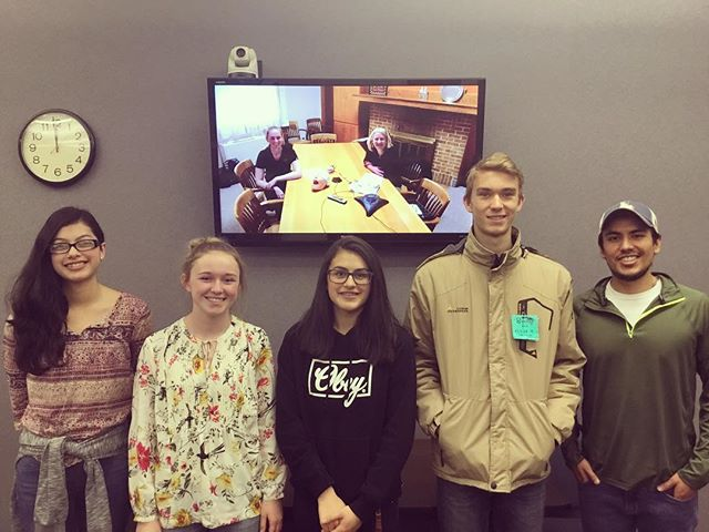 Really cool video conference today with faculty and students from the Dental Hygiene program at @idahostateu 😁Thanks for the awesome conversation and for answering all our questions about college, careers, and readiness!