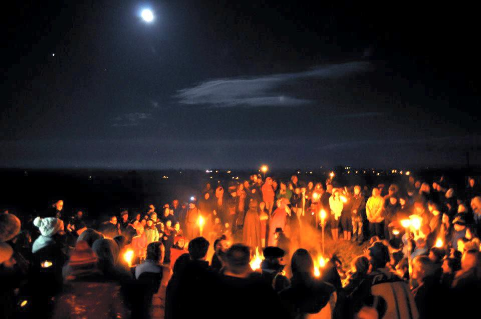 Samhain fire ceremony at Tlachtga, October 31st. The Birthplace of Halloween