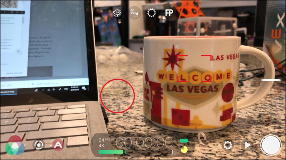 FilmicPro Interface on iOS