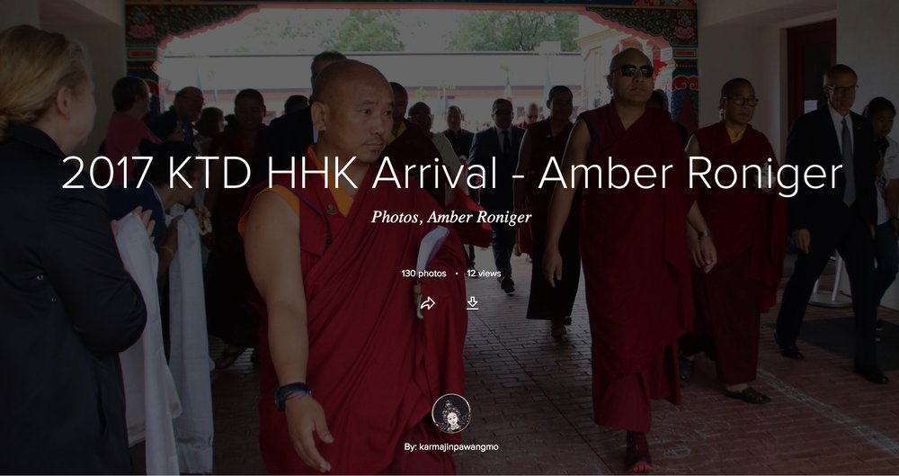 Karma Triyana Dharmachakra Blog - Arrival of His Holiness 17th Karmapa