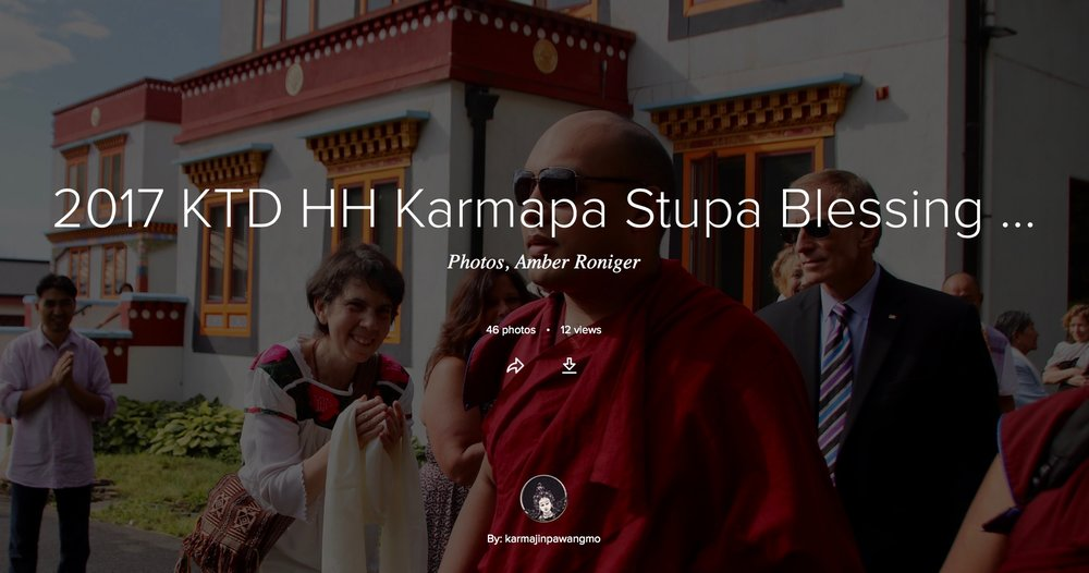 Karma Triyana Dharmachakra Blog - Stupa Blessing by His Holiness 17th Karmapa