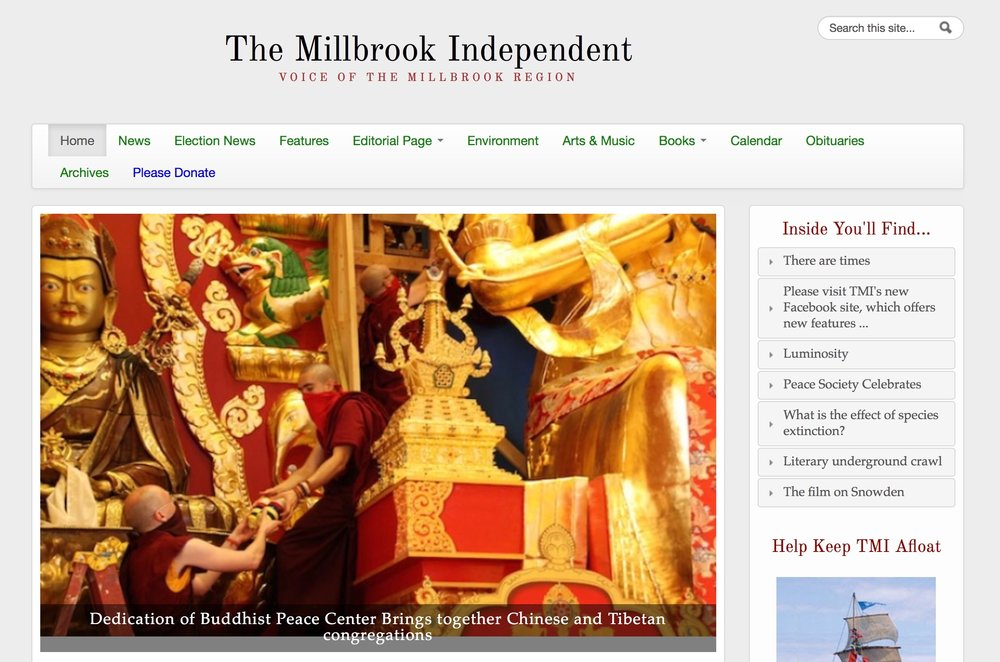 The Millbrook Independent - Dedication of Buddhist Peace Center